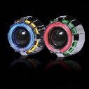 3inch bi xenon Double angel eyes LED Devil eyes H1 Bulbs Projector Lens Kit with H1/H4/H7/9005/9006 car headlights source