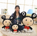 Dorimytrader New Hot 39'' / 100cm Japan Cartoon Giant Plush MR DOB Toy Stuffed Soft Super Star Lovely Doll Free Shipping DY61121