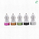 Dual USB Port Car Charger Universal 12-24 V/ 2.1A/1A for Apple iPhone iPad iPod Samsung Galaxy Nokia Sony Htc Huawei ABS+Aluminum
