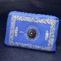 islamic travel pocket prayer mat with compass muslim prayer rug mix colors foldable size 100*60cm ZD092