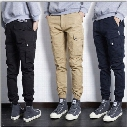 Wholesale-Summer Hip Hop Skinny Cargo Pants Chino Joggers With Pockets On Side For Men Fashion Brand parkour Skateboard sweatpants 71206