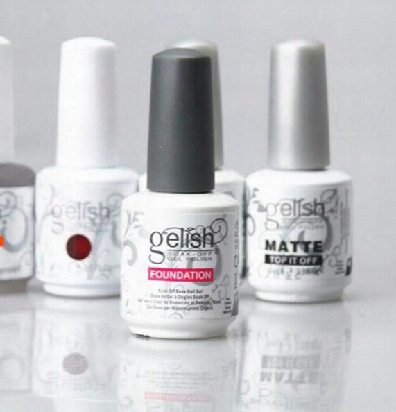 Top Quality Harmony Gelish Polish Led Uv Nail Art Gel Top It Off And Foundation Frence Nails Top Coat Base Coat