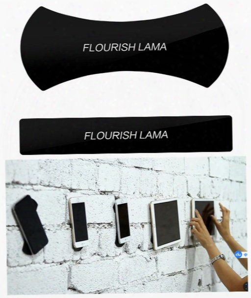 Universal Flourish Lama Powerful Strong Glue Stick Anywhere Wall Sticker For Mobile Phone Car Holder Mount Bracket Washable Repeatedly