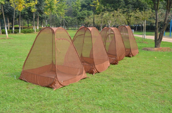 Wholesale- Hot On Sale Single Person Automatic Speed To Open Anti Mosquito Net Tent,pop Up Tent Automatic, Sit In Meditation Tent,yoga Tent