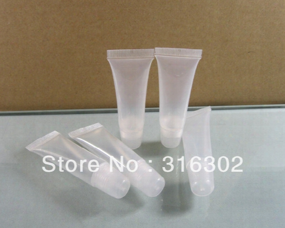 10ml Glossy Soft Tube,10g Skincare Cream Package,1/3 Oz Plastic Lip Tube, Cosmetic Packaging,cosmetic Container