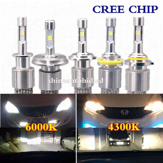 1set 104w 12000lm H1/h3/h4/h7/h8/h9/h10/h11/9005/9006/9012 Cree Led Headlight 4300k 6000k White Light Replace Halogen Xenon Bulbs