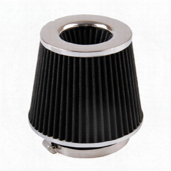 2016 Free Shipping New 4in Flow Intake Air Filter For Vehicle 101mm&155mm Height Black Stainless Steel