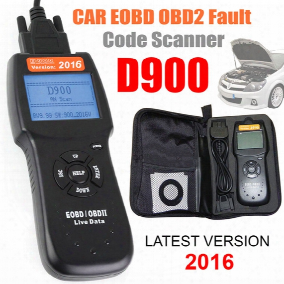 2016 Universal D900 Car Fault Code Reader Eobd Obd2 Scanner Diagnostic Scan Tool