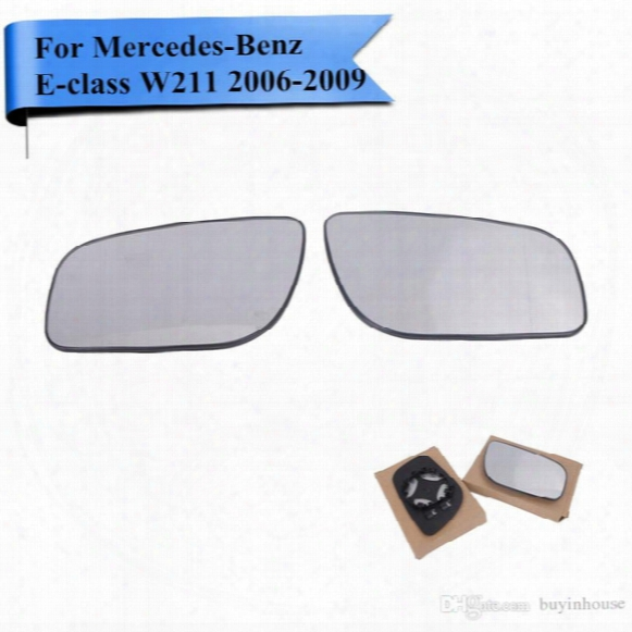 2x Heating Rearview Mirror Glass For Mercedes Benz E-class W211 Wagon E320 E350 E550 E63 Amg 2006 2007 2008 2009 #w111