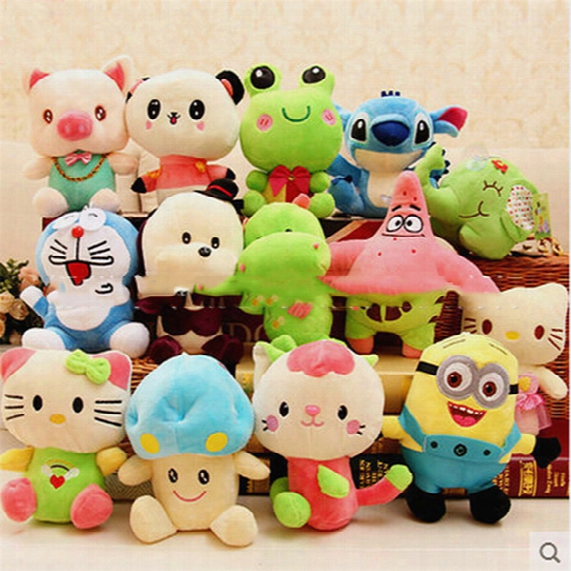 8-10cm Small Cartoon Plush Toys For Baby Stuffed Doll Animal Soft Toys Plush Doll Toy Christmas Gifts