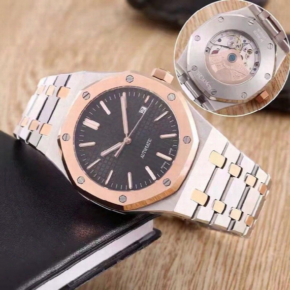Aaa Luxury Watch For Men Fashion Classic Style 42mm Stainless Steel Strap High Quality Automatic Movement Wristwatches Sapphire 15400st 5 4