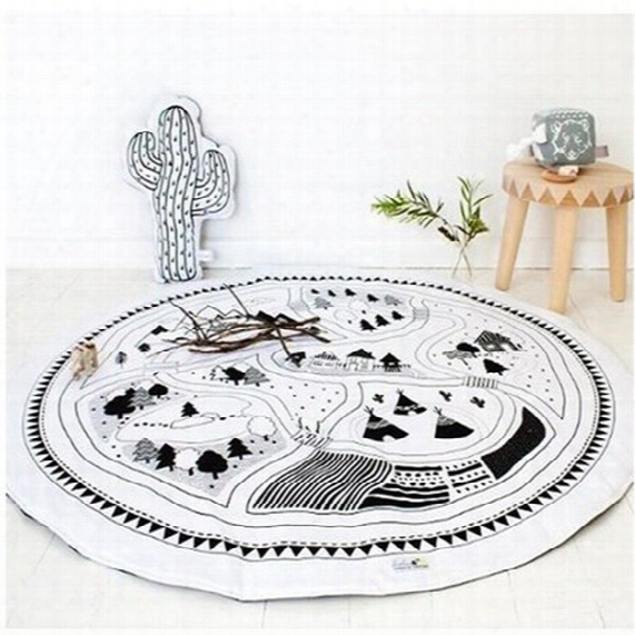 Baby Blanket Kids Play Mat Cobertor Girl Boys Game Mat Round Carpet Rug With Best Quality And Price 2109079