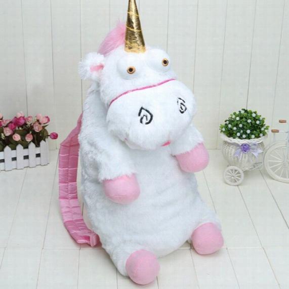 Big 55cm Unicorn Plush Backpack Baby Kids Soft Stuffed Licorne Peluche Toys Cartoon Plush Backpacks Mochila Bags Children Birthday Gifts