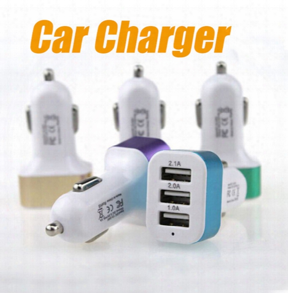 Car Charger Traver Adapter Car Plug Hot Selling Triple 3 Usb Ports Car Charger For 6s Samung S7 Sony Lg Htc