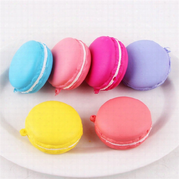 Dhl Free Shipping 5cm Slow Rising Squishy Charm Macaroon Kawaii Squishies Squeeze Cream Scented Decompression Toys Color Mixed
