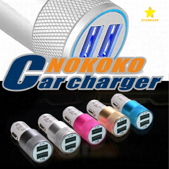 Dual Usb Port Car Charger Universal 2 Usb Fast Charging Adapter 2.1a For Iphone Ipad Samsung