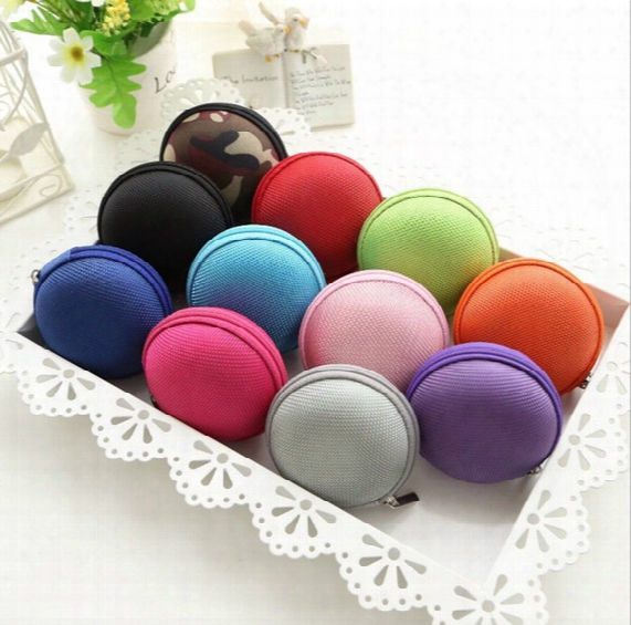 Earphone Storage Carrying Bag Earphone Earbud Case Cover For Usb Cable Key Coin Mini Zipper Case Free Dhl
