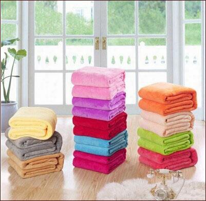 European Sales, Carved Flannel (coral Velvet) Solid Blanket, Super Soft Blankets, Autumn And Winter Warm Blanket