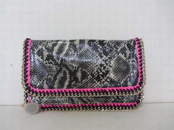 Fashion Quality Stella Mc Falabella Serpentine Pattern Chains Bag One Shoulder Cross-body Women's Day Clutch Handbags