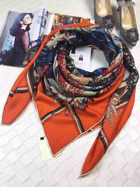 Hama- Original Package New Arrived Top Grade Cashmere Scarf, Garden Cashmere Scraf, Luxury Square Scarves Shawl 140cm