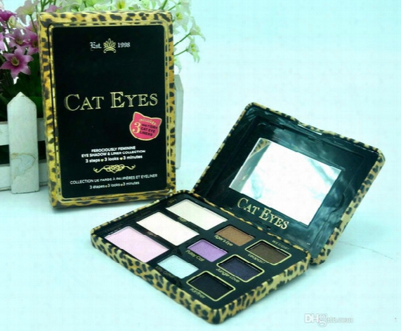 New Makeup Eyeshadow Palette Cat Eye/ Totally Cute/ Sugar Pop Eye Shadow Collection 9 Color +gift Dhl Free Shipping