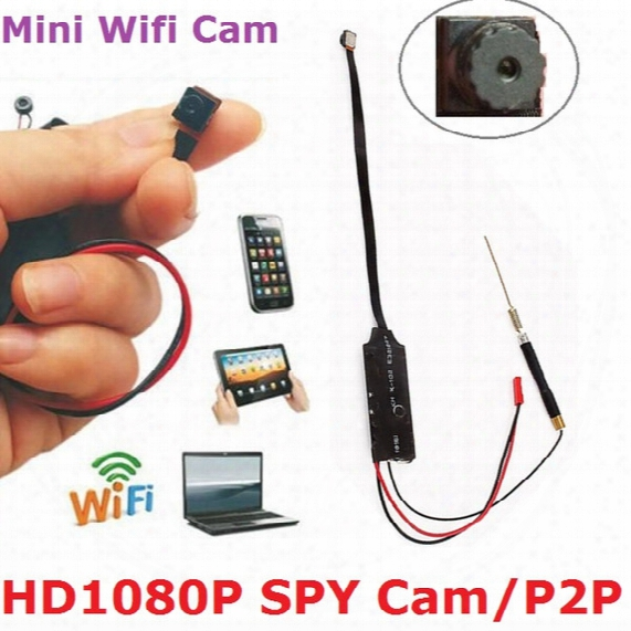 New Wifi Real 1080p Hd Spy Cam Hidden Camera Smartphone Surveillance Auto Record Free Dhl Shipping (factory Price)