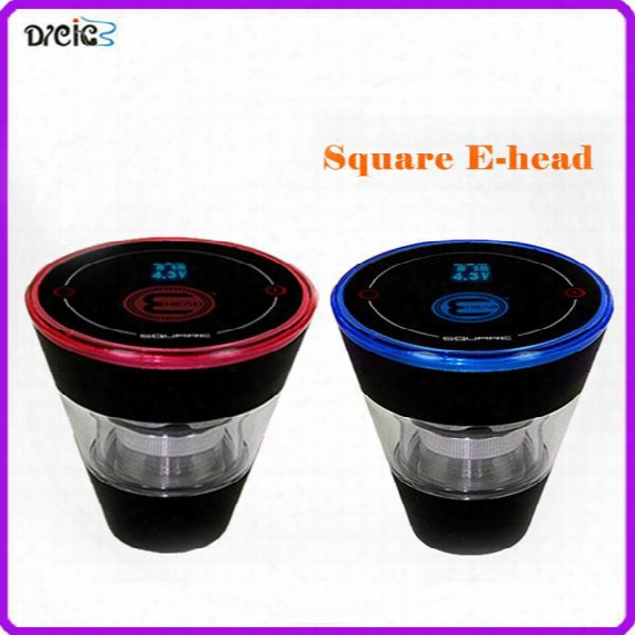 Square E Head Ehead Ehookah Mini Ehose E Shisha Square Cartridge Vape Pen Refillable Ehookah Disposable Hookah E Cigarette Kit