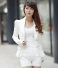 New Arrival Korea Women Spring Autumn Jackets Big Bowknot Career OL White ladies Slim Suit Blazer Coats S, M, L and XL SV01 7327