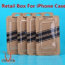 Universal Kraft Brown Paper Phone Case Empty Retail Package Boxes Packing Box Blister+Paper Card for iphone 5 6S 7 Plus SE