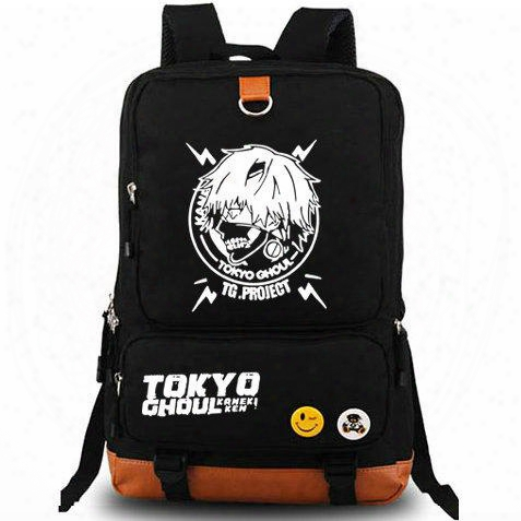 Tokyo Ghoul Backpack Free Shipping Daypack Tg Project Schoolbag Cartoon Rucksack Sport School Bag Outdoor Day Pack