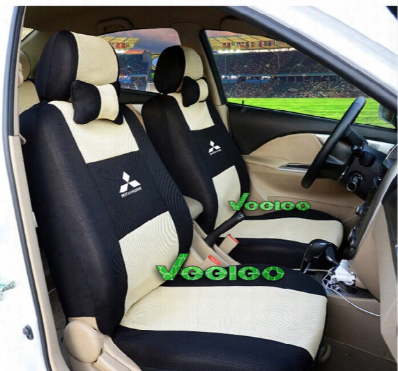 Universal Seat Cover For Mitsubishi Lancer Asx Outlander Pajero Galant With Sandwich Meterial+logo+wholesale+free Shipping