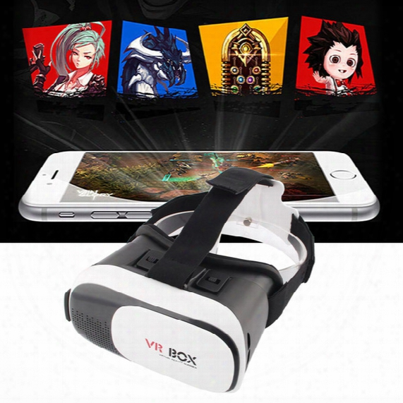Vr Box Version 2.0 All In One Vr Headsets Plastic Virtual Reality Glasses Google Cardboard For 4.0 - 6.0 Inch Smartphone