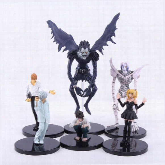 Wholesale-6pcs/set Anime Death Note L Killer Ryuuku Rem Misa Amane Pvc Action Figures Toys