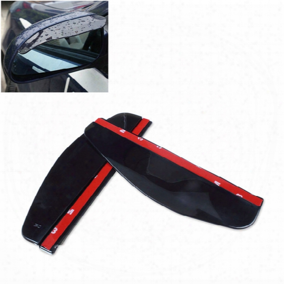 10pair=20pcs/lot Universal Car Back Mirror Eyebrow Rain Cover, Weatherstrip Rearview Mirror Rain Shade Car Styling, Pvc Rainproof Blades