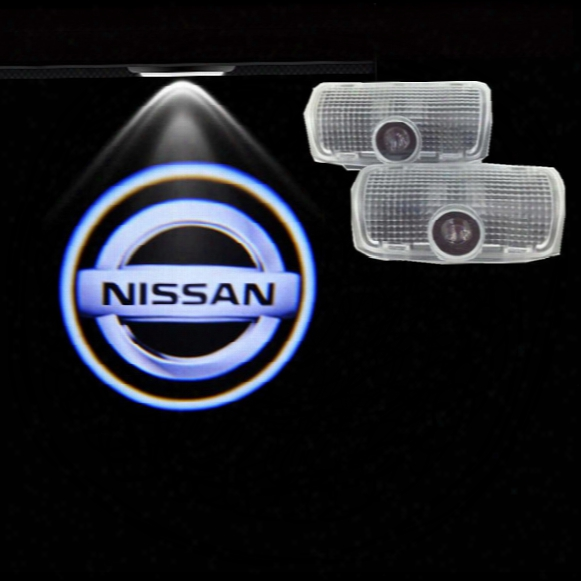 2 Led Car Door Logo Projector Light Ghost Shadow Light For Patrol 2010-2014 Teana 2006-2012