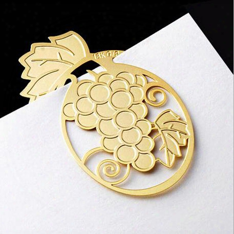 20pcs 18k Gold Plated Grape Bookmark Book Card For Wedding Baby Shower Party Birthday Favor Gift Souvenirs Souvenir
