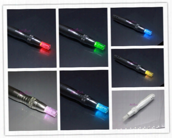 7color Led Photon Electric Derma Auto Pen Stamp Photon Micro Needles Dermapen Wrinkle Acne Scar Remove Skin Therapy Care Tool Machine
