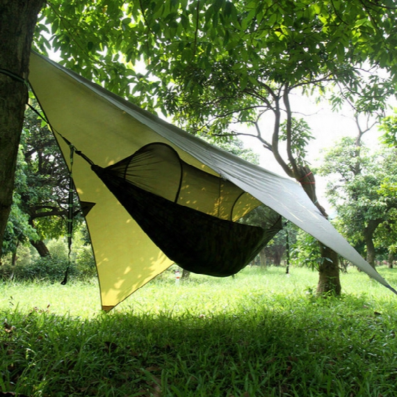 Air Tent Simple Automatic Opening Tent 2 Person Easy Carry Quick Hammock With Bed Nets Rainproof Backdrop Summer Outdoors Fast Shipping