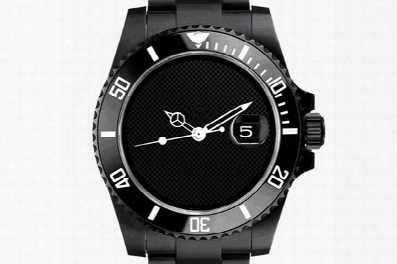 All Black Men Stainless Watches, Fashion Ceramic Sapphire Glass Automatic Luxury Watch Men Wrist Watches 068