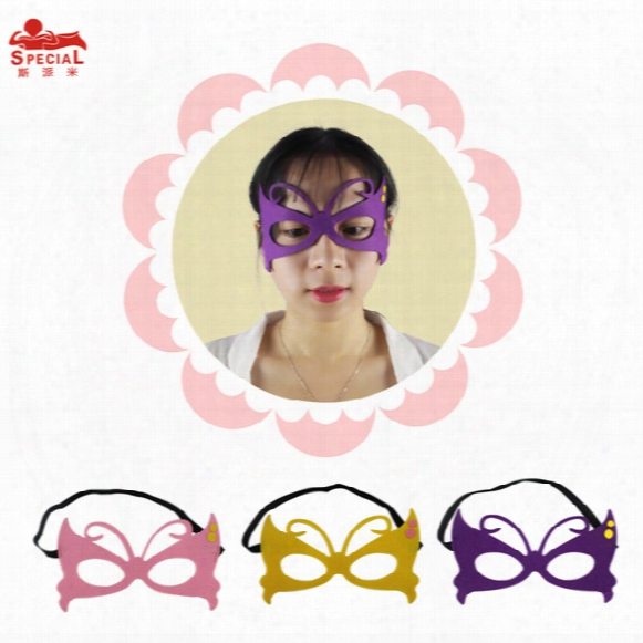 Butterfly 3masks(20*20)one Set For Kids Birthday Or Halloween Christmas Gift Outdoor Parents-campaign Masks Party Carnival Cosplay