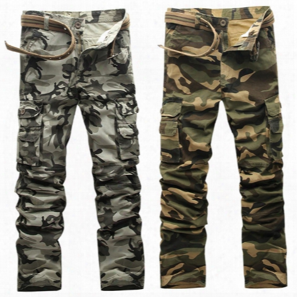 Camo Pants Men Fashion 2017 New Arrival Slim Fit Camouflage Work Pants Men Sweatpants Cargo Pants