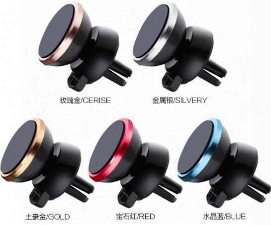 Car Mount Holder Clip 360 Degree Universal Magnetic Air Vent Mount Smartphone Dock Mobile Phone Holder Pc/cellphone Holder Stands For Iphone