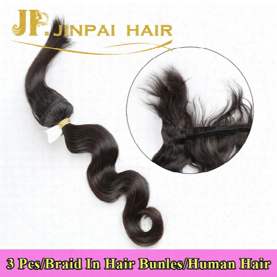 Cool! New Arrival 3 Pieces Brazilian Human Braiding Hair Braid In Bundles Body Wave Free Shipping Jp Hair
