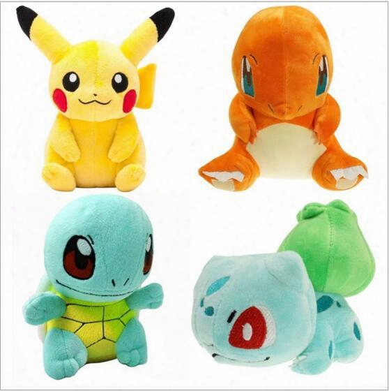 Hot Sale!16-20cm Squirtle Charmander Bulbasaur Pikachu Plush Dolls Cartoon Poke Plush Toys Stuffed Animals Toys For Kids Soft Christmas Toys