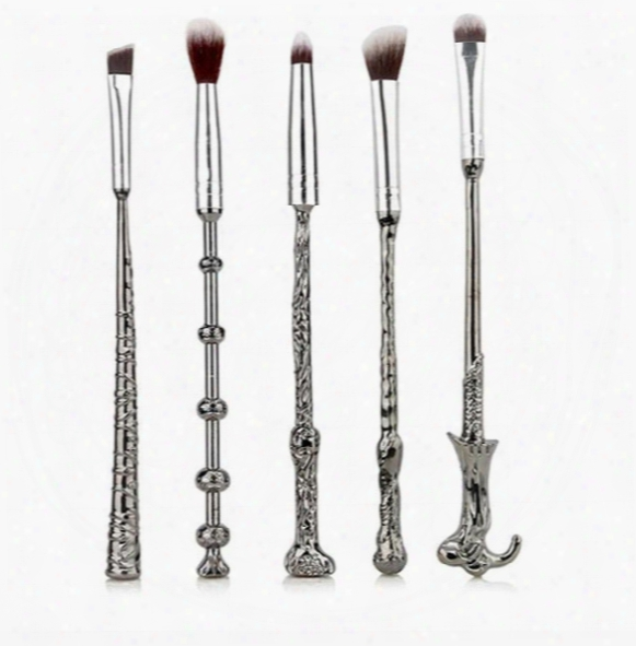 Hp Magic Stick Wand Hand Makeup Brush Set Makeup Brush 5pcs Set Of Two-color Hairs.makeup Brush