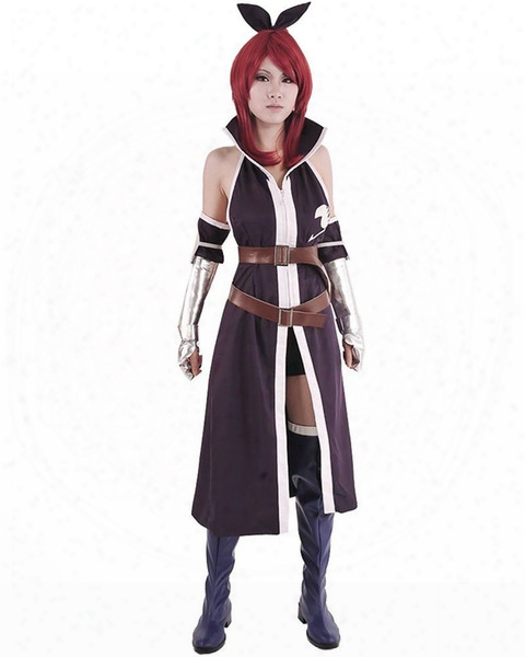Kukucos Anime Super Cool Fairy Tail Cloak Erza Scarlet Cosplay Whole Costume Women Size Halloween Suit