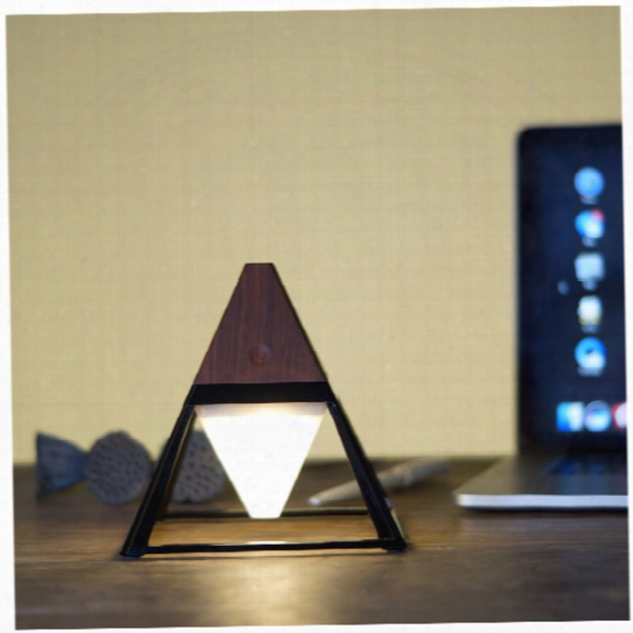 Led Table Light 2000mah Clamp On Desk Lamp Home Lighting Waterproof Garden Modern Desk Lamp Light Brightness (dark Wood)