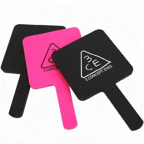 Makeup Mirror Compact Hand Type Handle Cosmetic Mirroreasy Easy To Carry Bag Three Kinds Of Color Can Choose Free Shipping