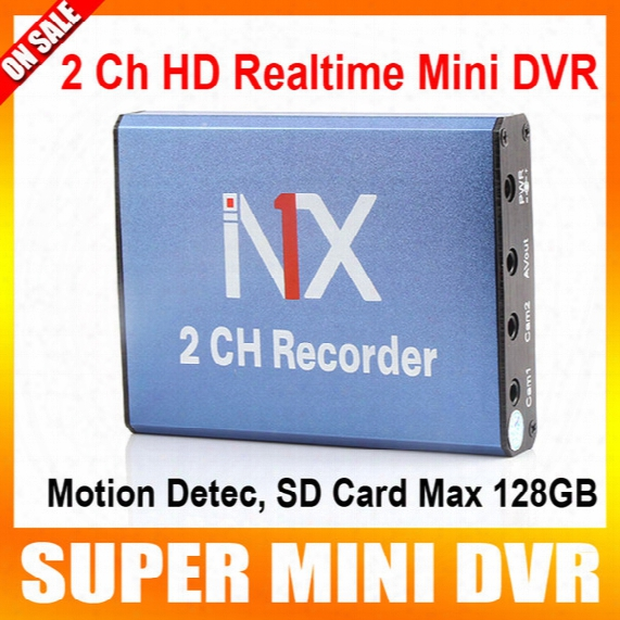 Mini Dvr Recorder Support Sd Card 128gb Real Time 25fps 2ch Dvr Board Mpeg-4 Video Compression Motion Detection Vga 640*480