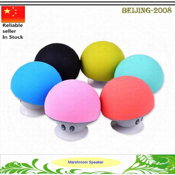 Mushroom Bluetooth Speaker Car Speakers With Sucker Mini Portable Wireless Handsfree Subwoofer For Mobile Phones Tablet Pc 010279
